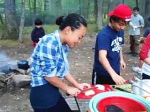 サタデーNJ校6年 校外学習「キャンプ場でのカレー作り」