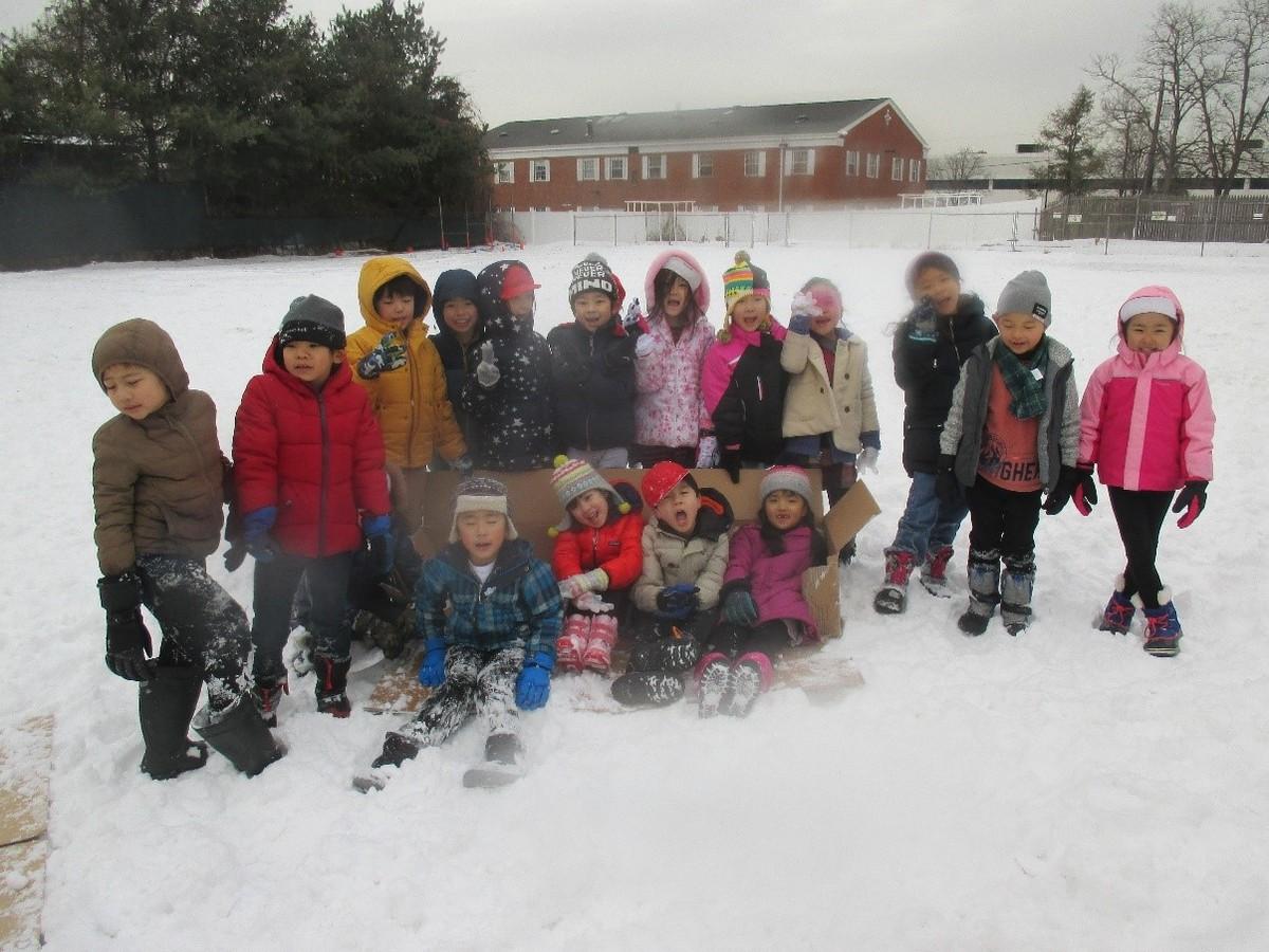 雪遊びで冬を満喫!