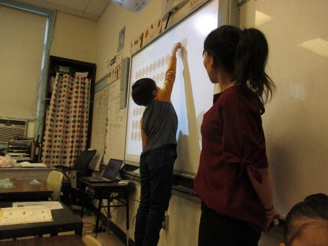 電子黒板の活用で算数も更にわかりやすく!