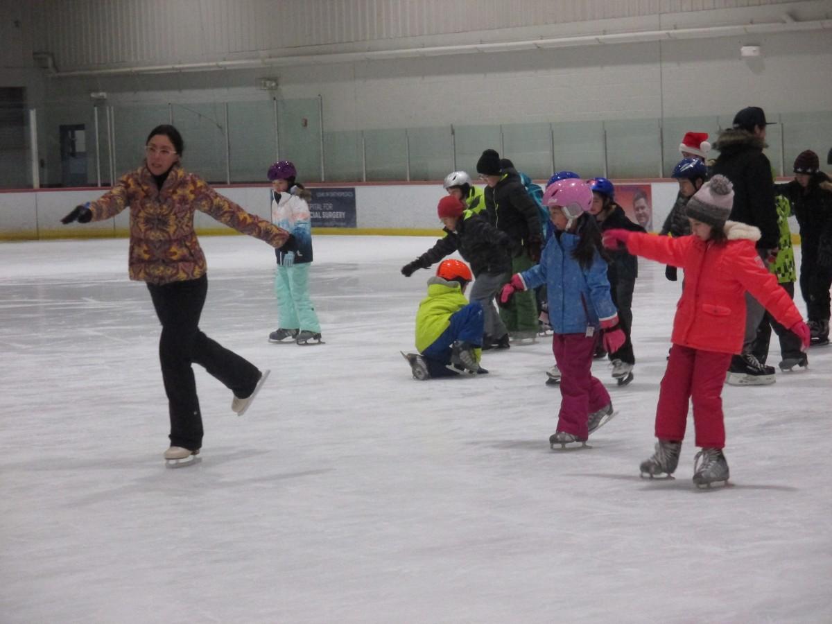 冬の楽しみスケート教室