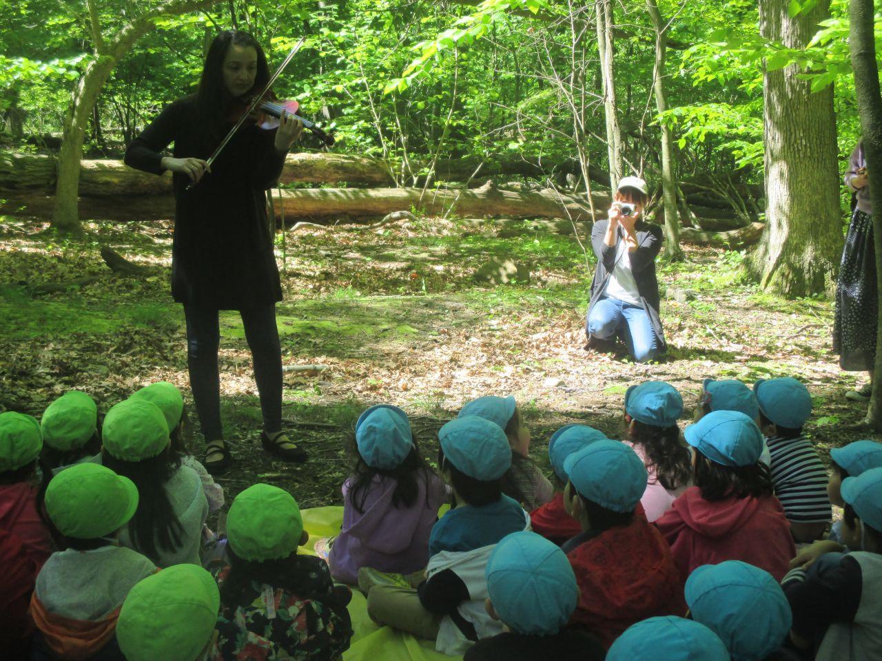 目指せ!バイオリニスト!森のバイオリンコンサート