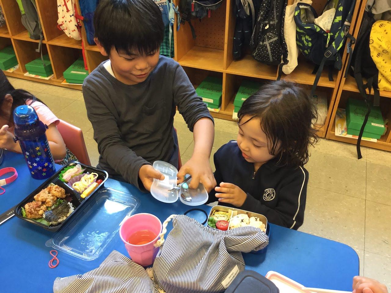 4年生との交流 幼少交流会