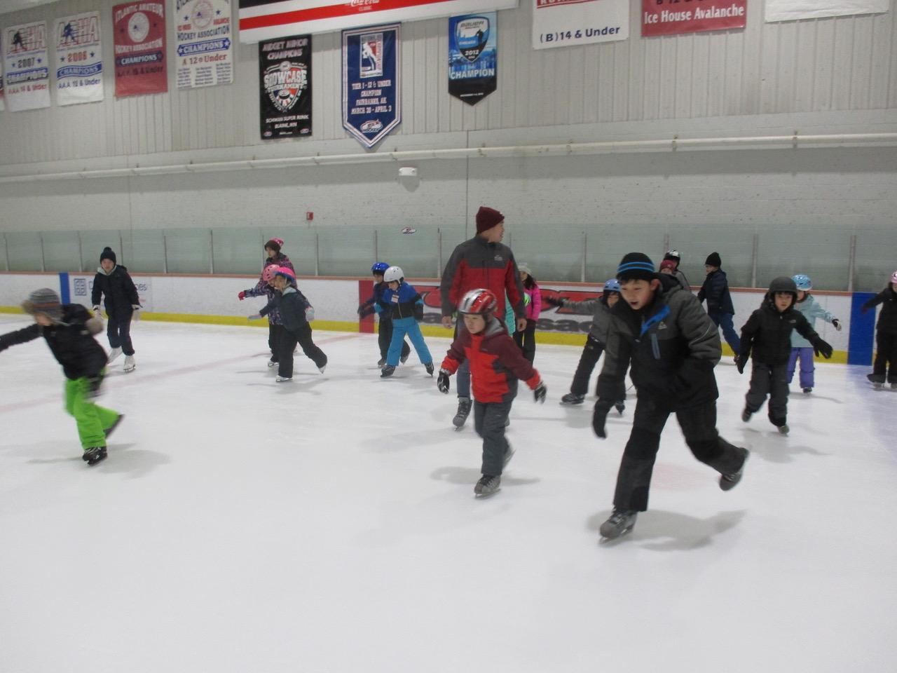 冬の恒例スケート教室