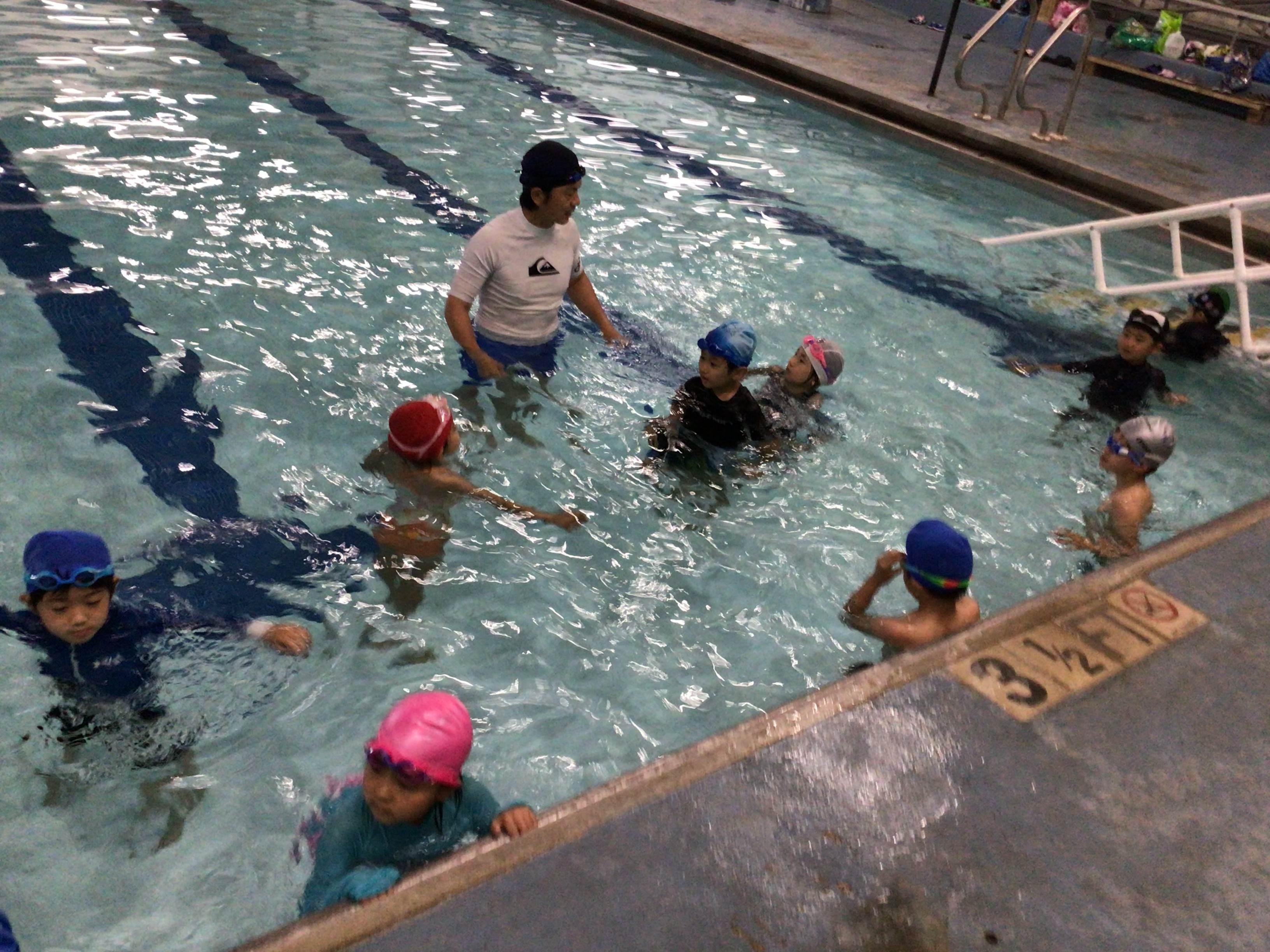 初めての水泳学習
