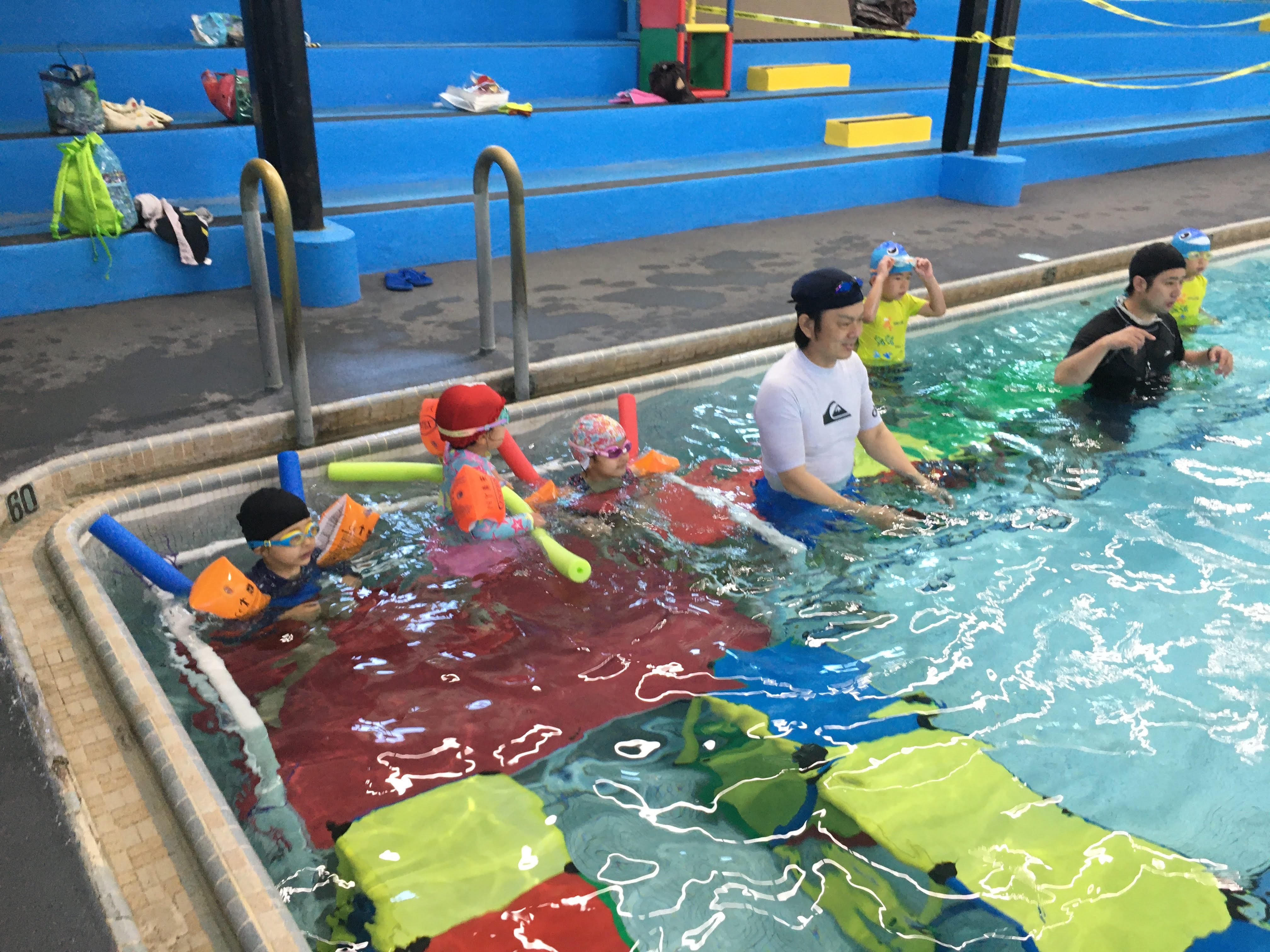 待ちに待った水泳教室!